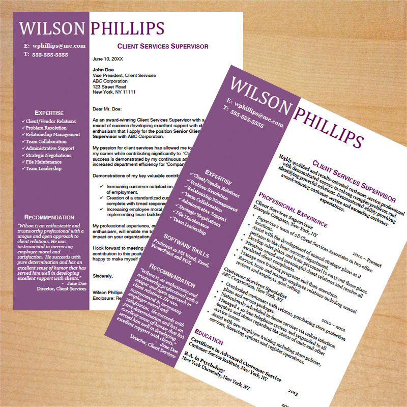 Resume templates for customer