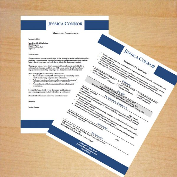 Marketing Coordinator Resume and Cover Letter Template